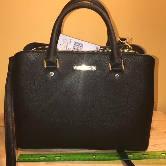 623b1e3866f9 Michael Kors Bags | New Medium Black Savannah Satchel | Poshmark